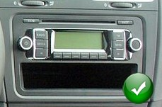 autoradio 1 din vw golf passat polo avec cd usb mp3 bluetooth autoradios. Black Bedroom Furniture Sets. Home Design Ideas