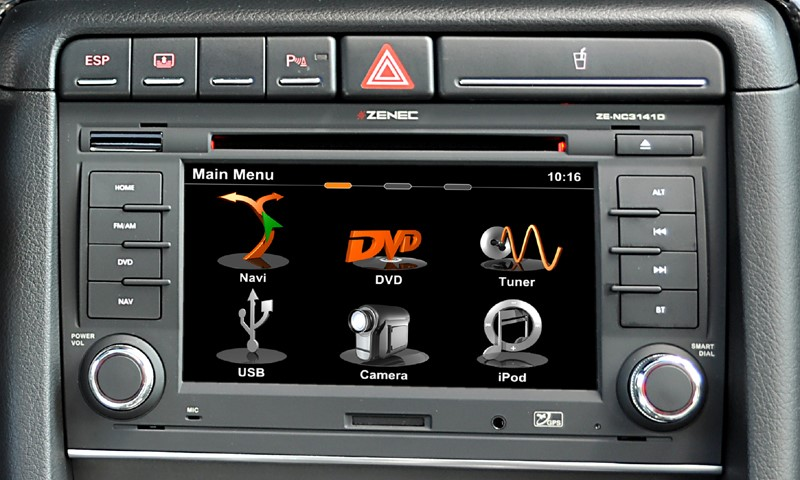 autoradio dvd gps audi a4 autoradios zenec ze nc3141d audi autoradio. Black Bedroom Furniture Sets. Home Design Ideas